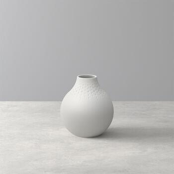 Manufacture Collier blanc Vase Perle petit 11x11x12cm