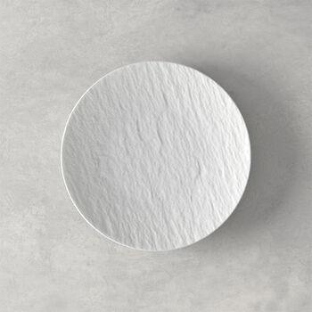 Manufacture Rock blanc Assiette à pain 15,5x15,5x2cm