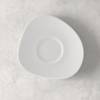 Organic White sous-tasse à café, blanche, 17,5cm