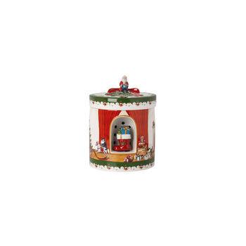 Christmas Toys Paquet-cadeau grand rond, 2021 17x17x22 cm