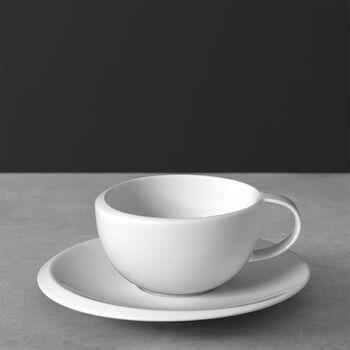 NewMoon Tasse à café avec soucoupe 2pcs 17x17x6,5cm