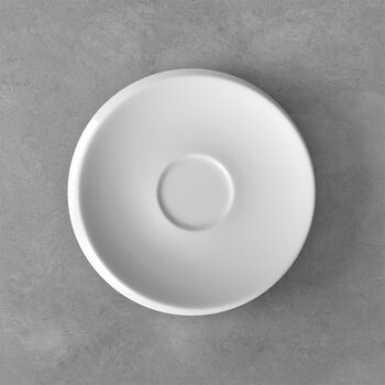 NewMoon sous-tasse pour tasse à café, blanche