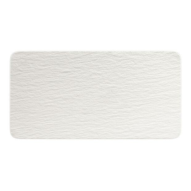 Manufacture Rock Blanc plat à servir rectangulaire, blanc, 35x18x1cm, , large