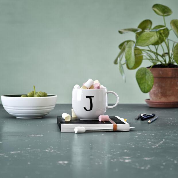 Mug Letters J 13x10x8cm, , large