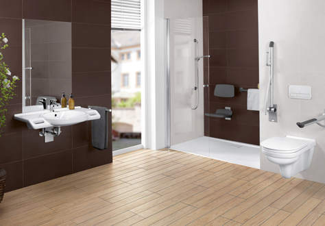 Agencer une salle de bains accessible avec - Villeroy & Boch