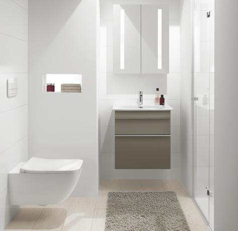 Petite Salle De Bains Avec Douche - Solutions D'Espace - Villeroy