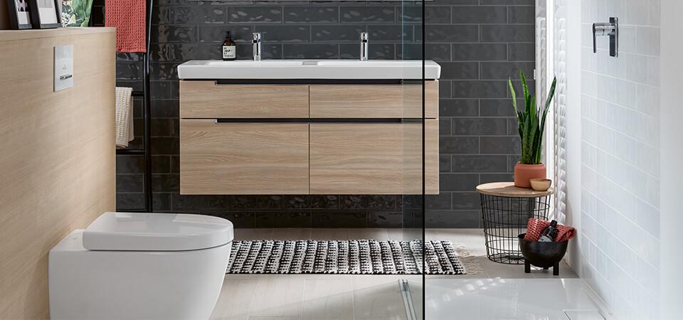 Petite salle de bains avec douche - Solutions d\'espace - Villeroy & Boch