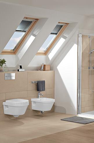 Les salles de bains mansardées - Utiliser l\'espace intelligemment ...