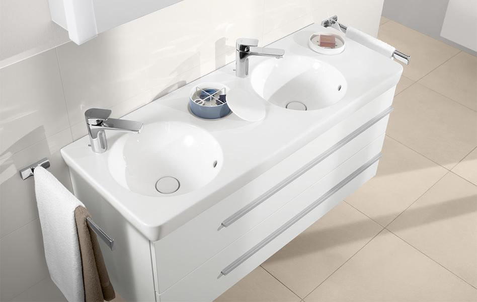 Perfect joyce meuble de salle de bains with evier for Evier tradition villeroy et boch