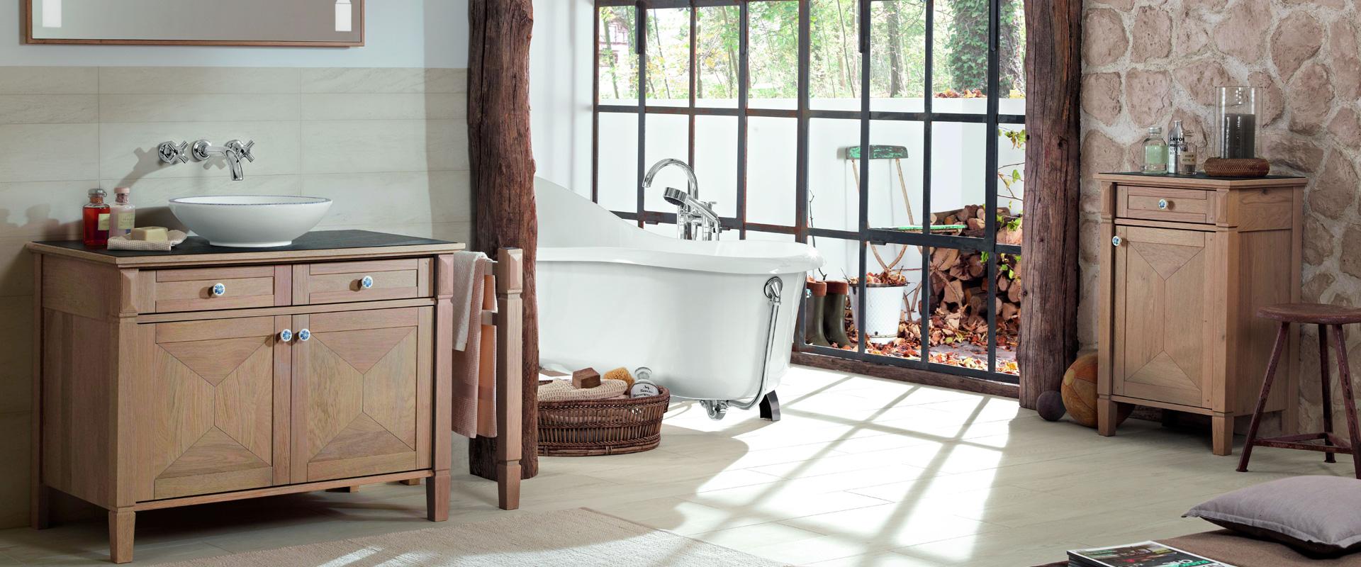 meuble salle de bain en bois entretien