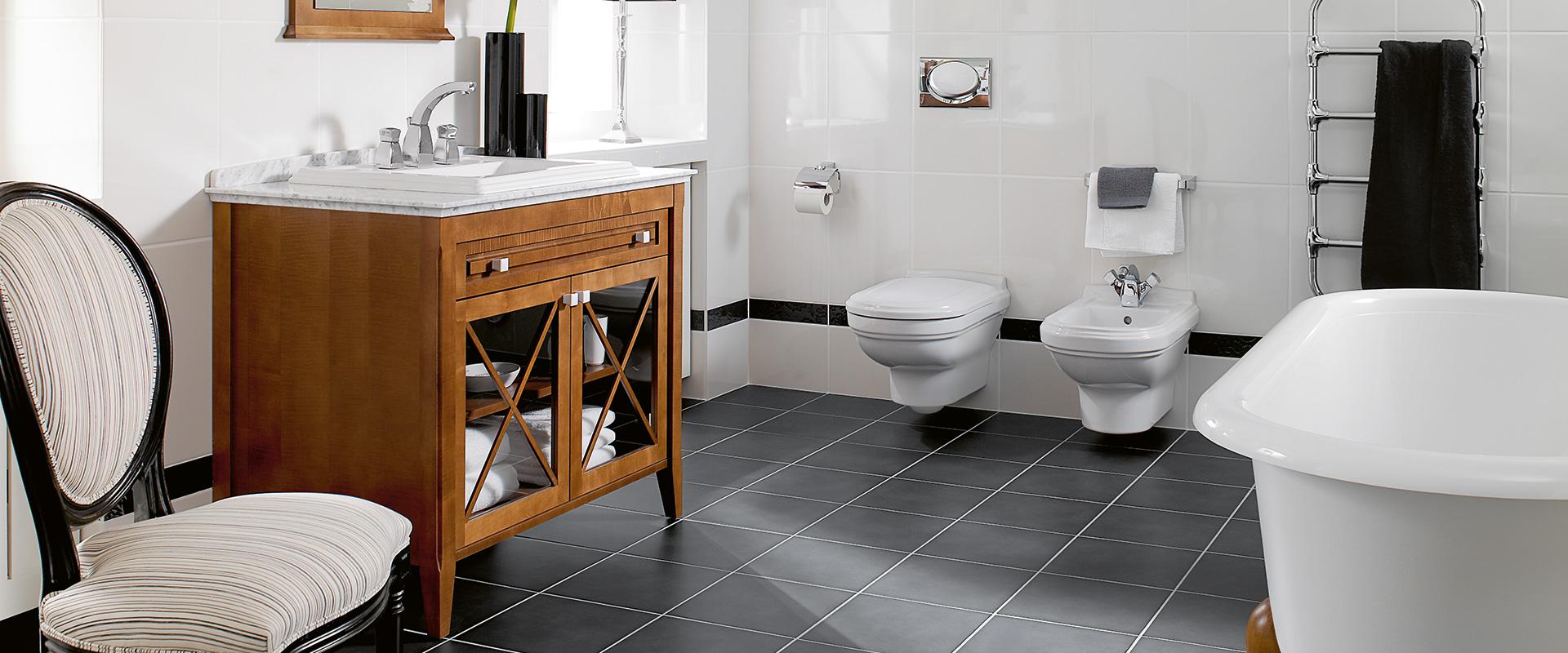 Hommage collection pour salle de bains en relief - Meuble de salle de bain villeroy et boch ...